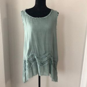 Sea foam sleeveless blouse